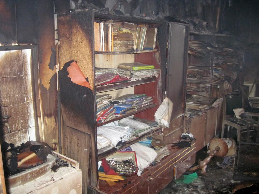пожар в Лесопромышленном колледже