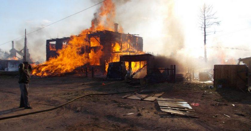 пожар в Белой Холунице