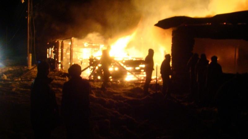 пожар в Малмыжском районе Кировской области 2