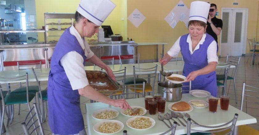 школа 52 в Кирове столовая