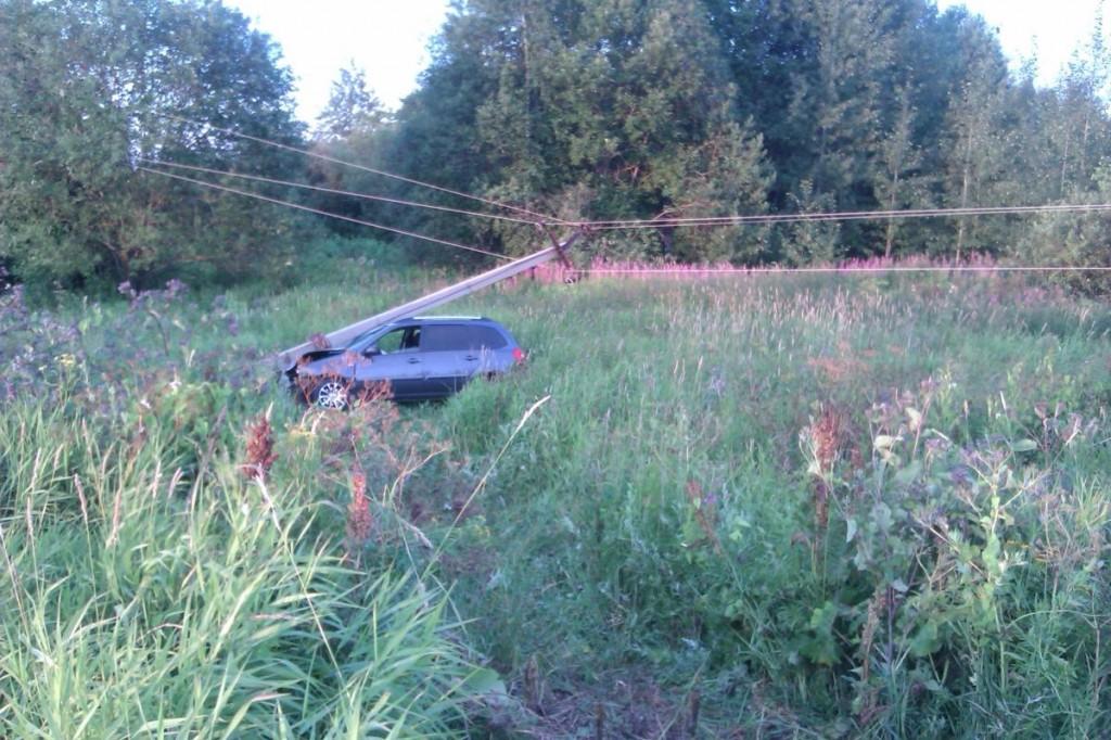 В Кировской области «Калина» снесла столб