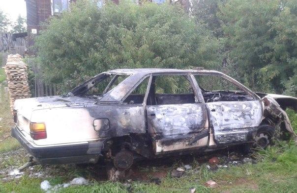 В Котельниче сгорел Audi-100