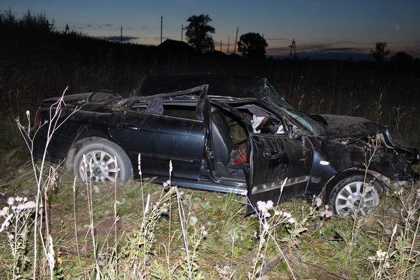 В Вятскополянском районе Кировской области перевернулся «Хендай» с пьяным водителем