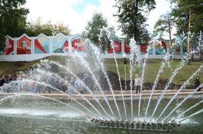 В Кирове открыли новый светомузыкальный фонтан