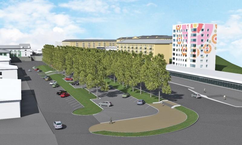 Чиновники презентовали проект парковки на Комсомольской