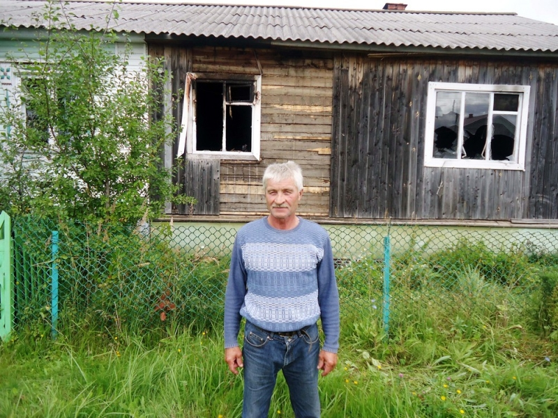 В Туже Кировской области бдительные сосед спас из огня женщину