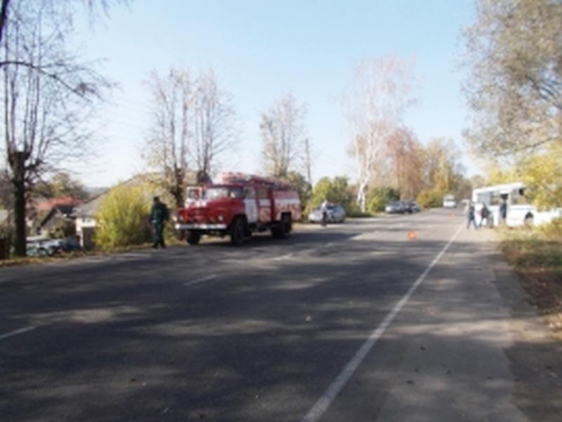 В Яранске столкнулись ВАЗ и рейсовый автобус