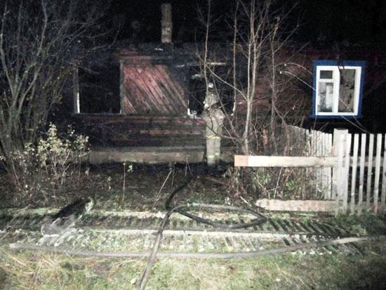 Пожар в Речном Кировской области