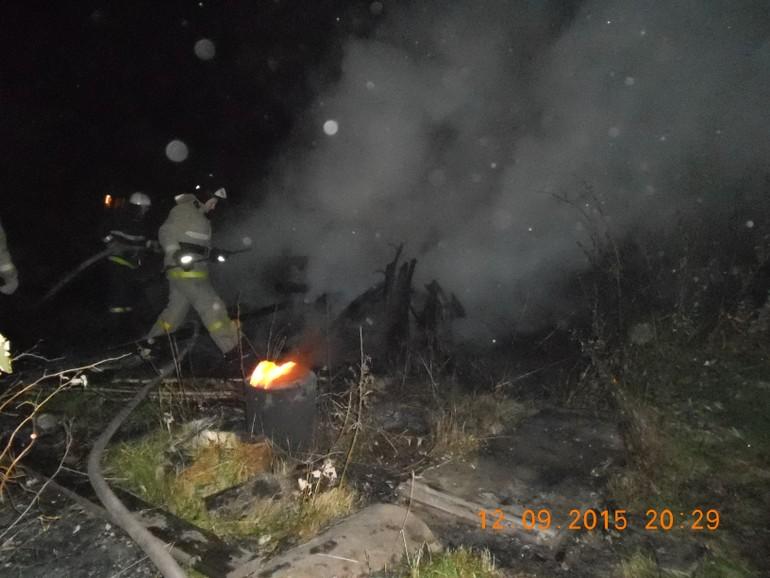 При пожаре под Кировом пострадал пьяный 38-летний мужчина