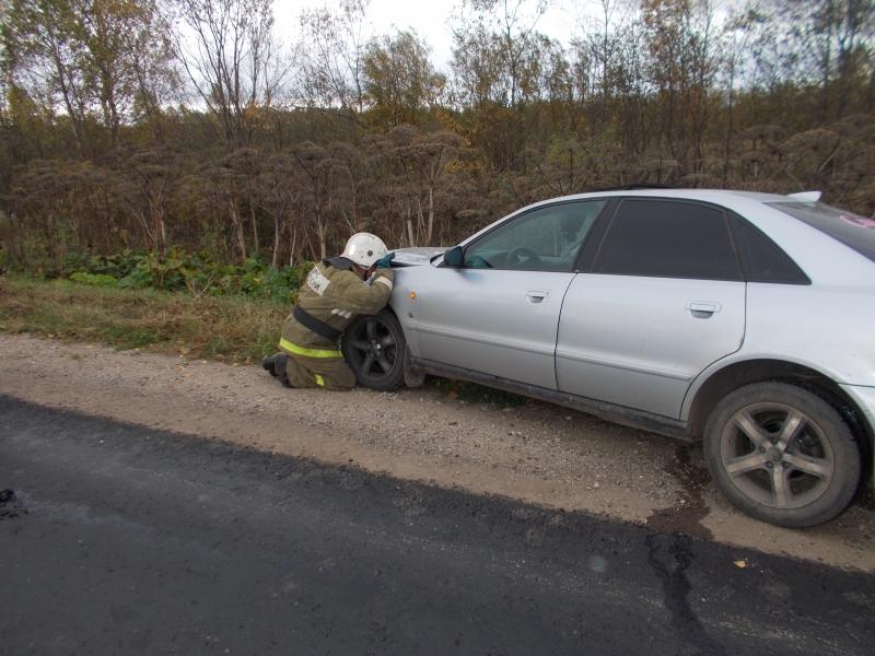 В Котельничском районе столкнулись две иномарки