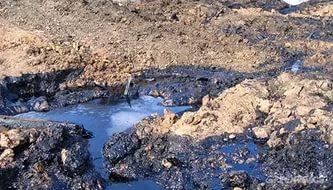 В Юрьянском районе обнаружили озеро мазута