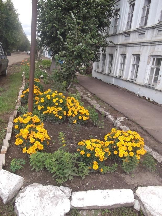 В Нолинске вахтер украсила цветами всю территорию детской школы искусств