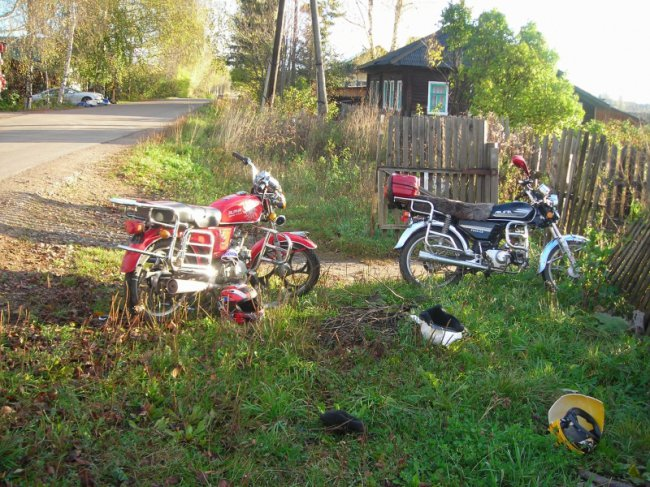 В Шабалинском районе столкнулись два мопеда: водители были пьяными