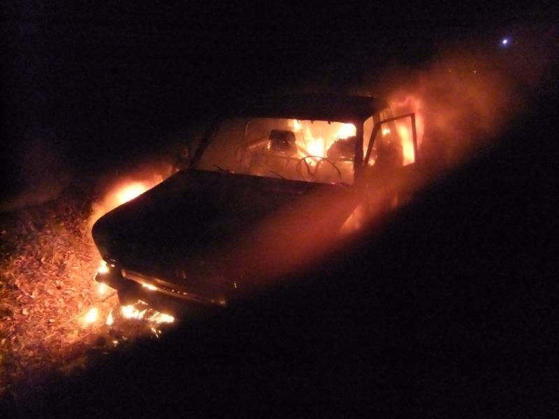 В Вятскополянском районе сгорела «шестерка»