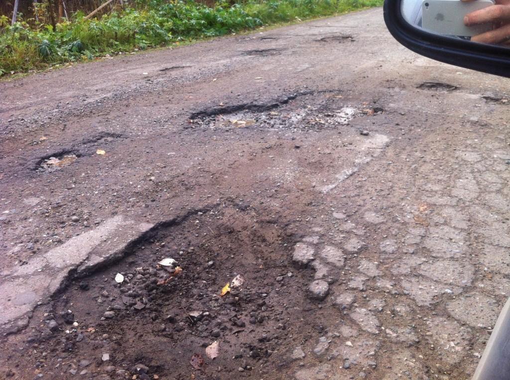 Разрушенная дорога староюрьянского тракта