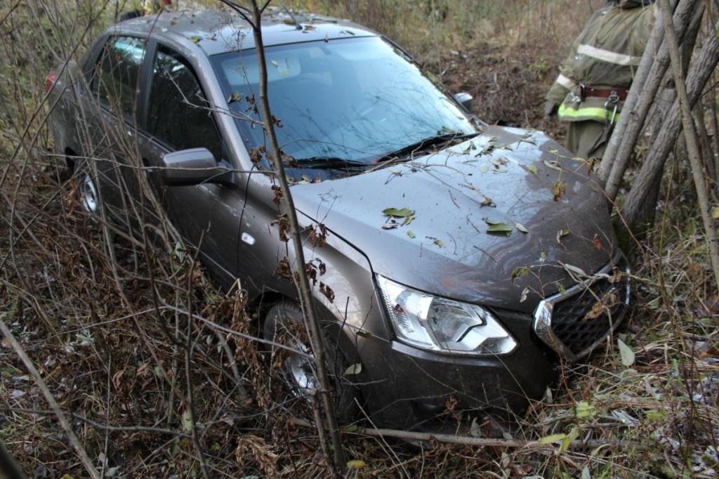 В Орловском районе иномарка улетела в кювет: пострадала женщина