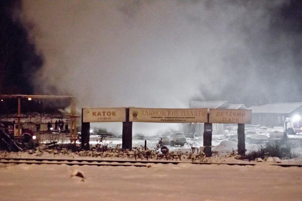Ночью в Кирове горели «Хлыновские палаты»