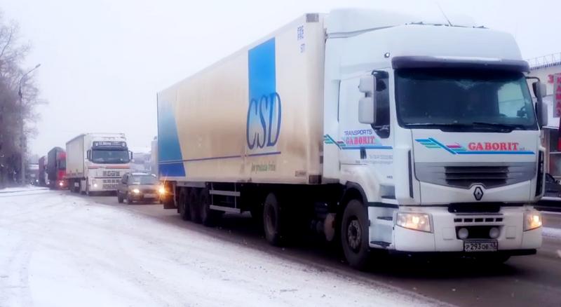 Киров встал в пробках из-за акции протеста дальнобойщиков