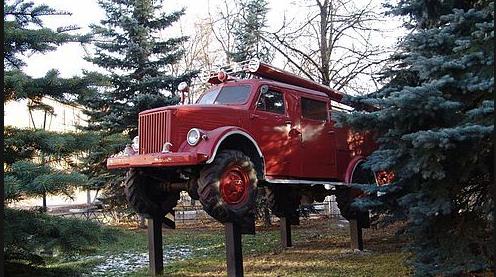 В Кировской области установят памятник пожарной цистерне