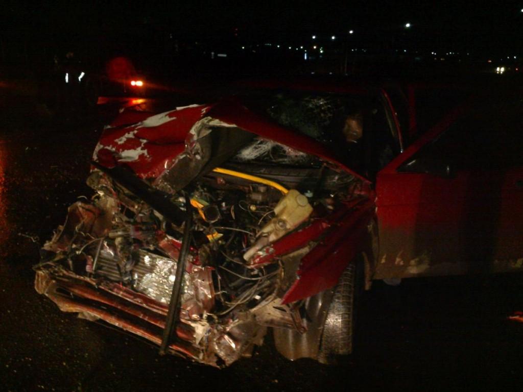 В Котельничском районе ВАЗ столкнулся с грузовиком
