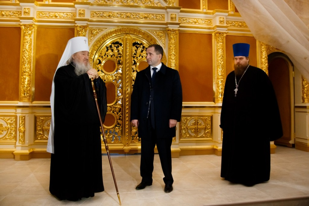 Михаил Бабич посетил Церковь сошествия Святого Духа в Казани и встретился с главой митрополии