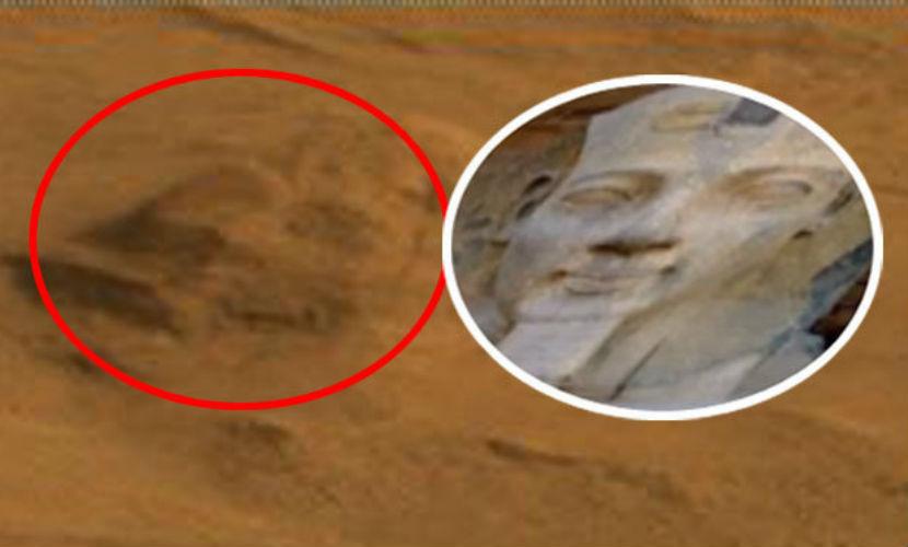 На Марсе нашли пирамиды и голову Сфинкса
