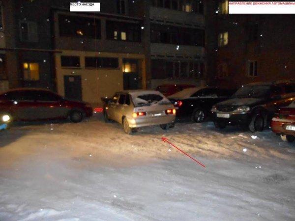 На Чернышевского ВАЗ без водителя наехал на пешехода