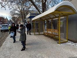 В январе в Кирове установили 10 новых остановочных павильонов