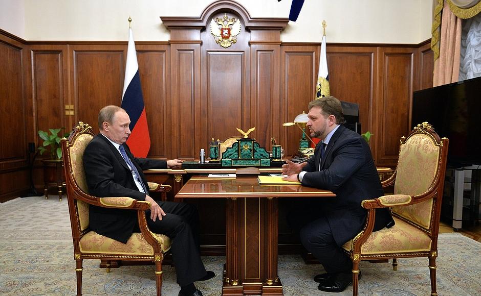 Губернатор Никита Белых встретился с президентом Владимиром Путиным