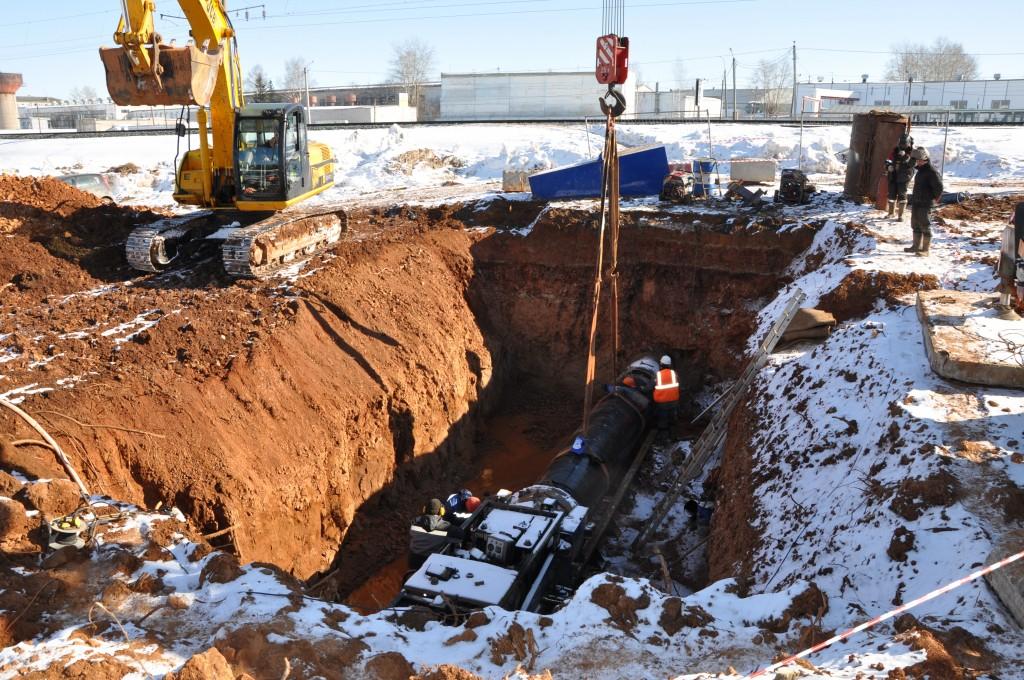 ККС строят водовод под Транссибом