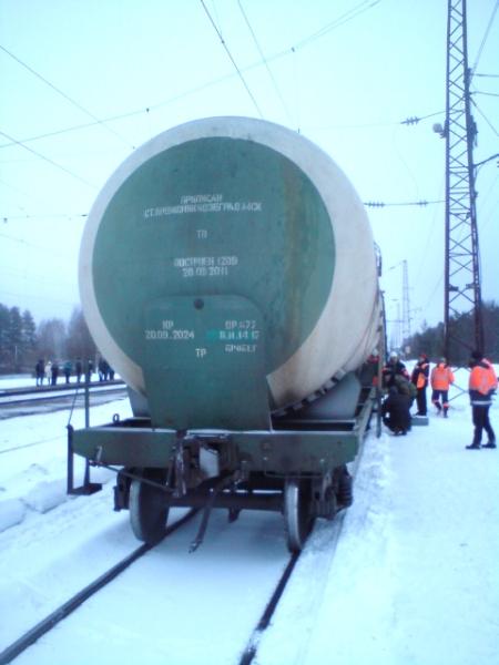 В Оричевском районе с рельсов сошла цистерна грузового поезда