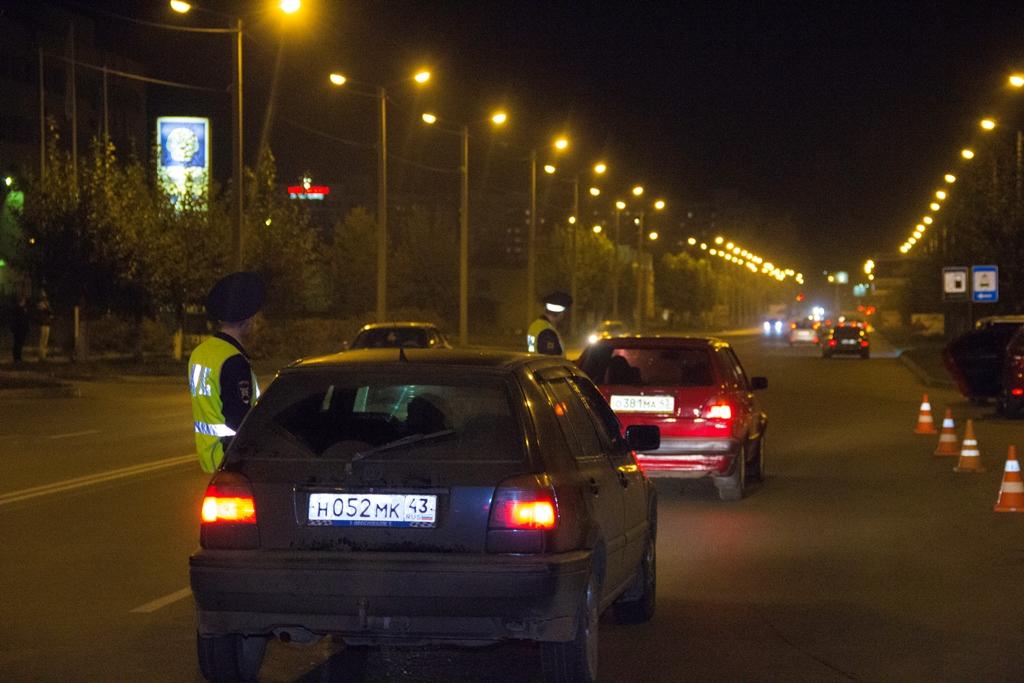 За выходные в Кирове задержали 14 пьяных водителей