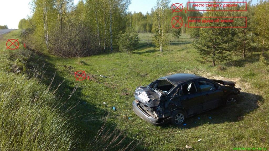 В Кировской области 19-летняя бесправница отправила в кювет «Форд»
