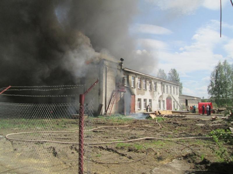 В Лузе произошел серьезный пожар на деревоперерабатывающем комбинате