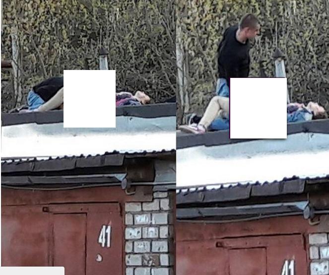 Двое кировчан занялись сексом на крыше гаража у школы