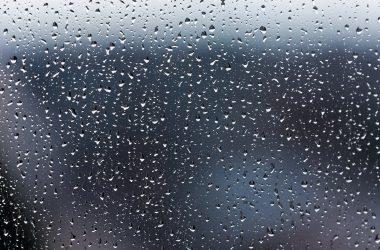 Дождь, капли дождя, капли на стекле