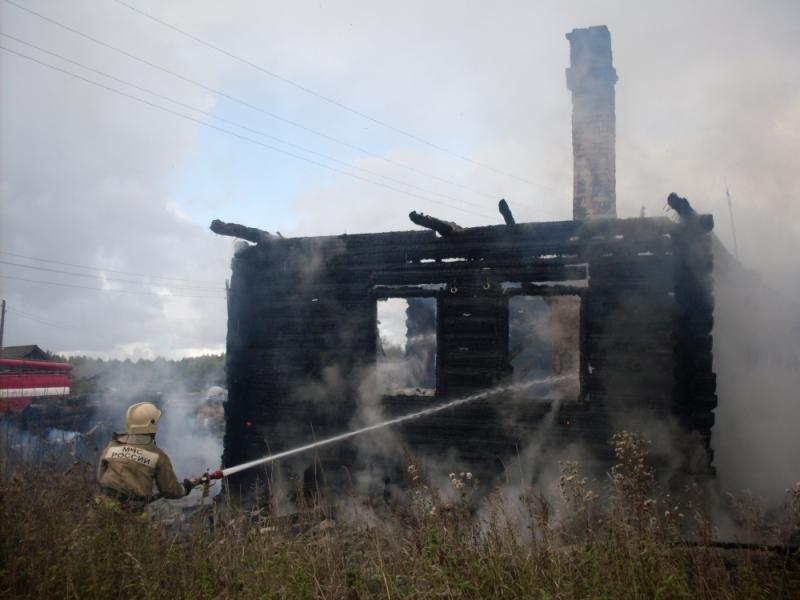 В Котельничском районе сгорел жилой дом