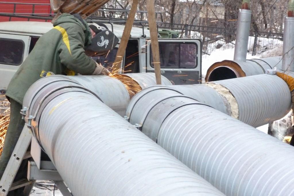 Ремонты на тепловых сетях КТК в январе