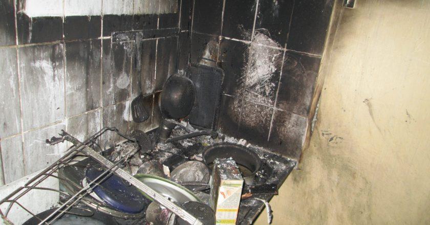 Пожар на улице Горького: вместо воды кировчанка налила в чайник бензин