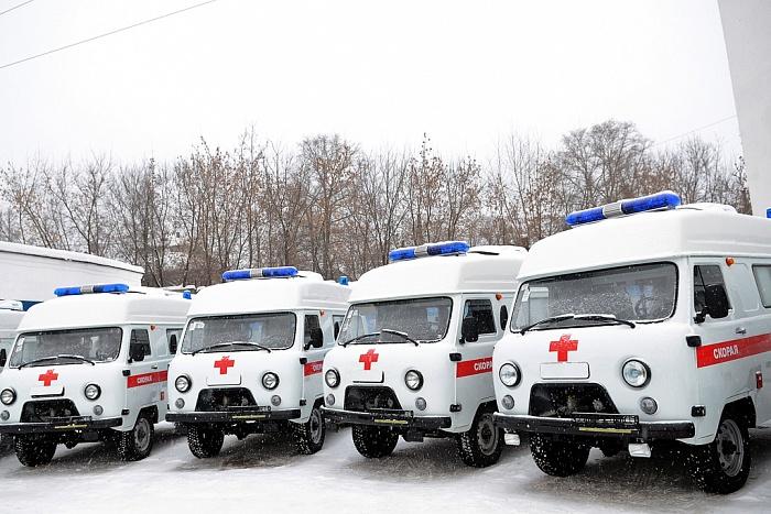 Станция скорой медицинской помощи получила 28 новых автомобилей