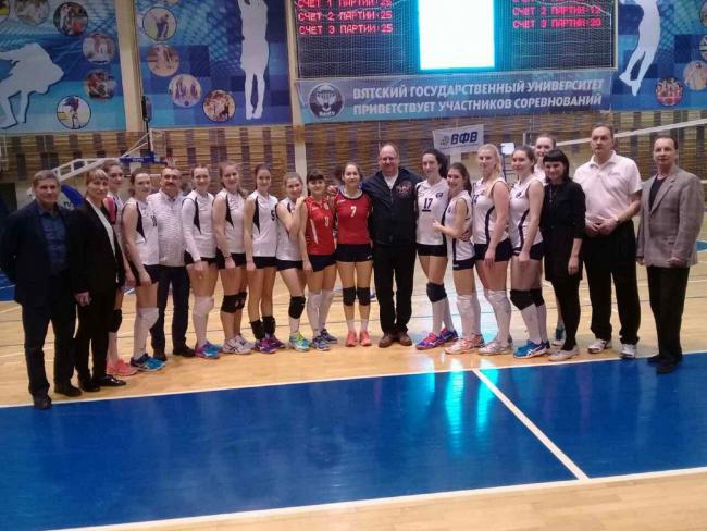 В ВятГУ соревновались лучшие женские команды по волейболу Приволжского федерального округа