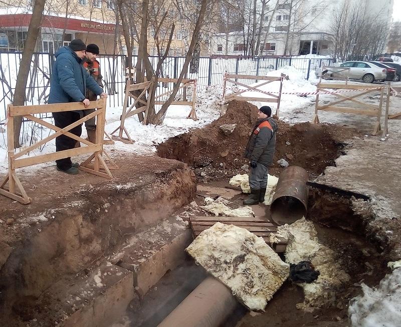 Теплоснабжение жилых домов в районе ул. Калинина и Пугачева восстановлено