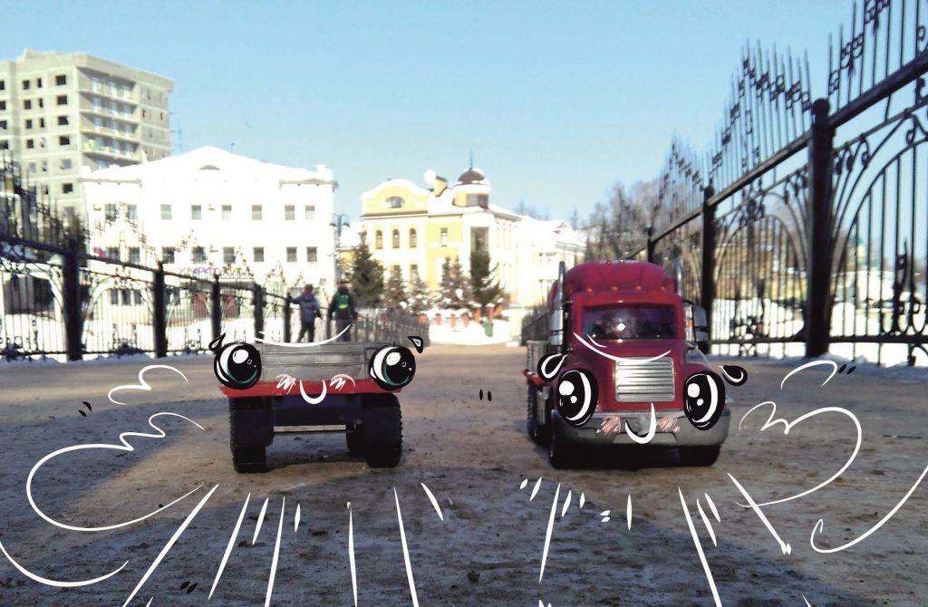рузовик и Прицеп приехали к нам в Киров рассказать о своих приключениях.
