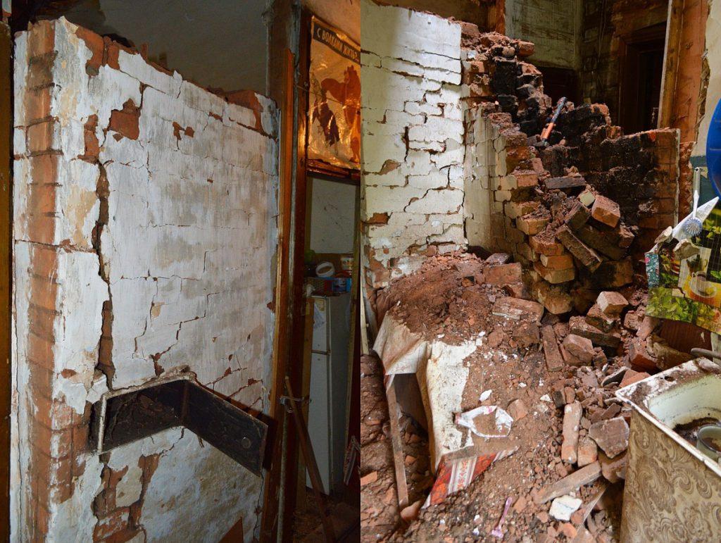 В Нововятске кирпичная печь в аварийном доме рухнула на мужчину