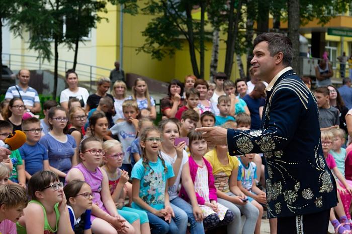Артисты цирка Юрия Никулина выступили перед пациентами детской областной больницы