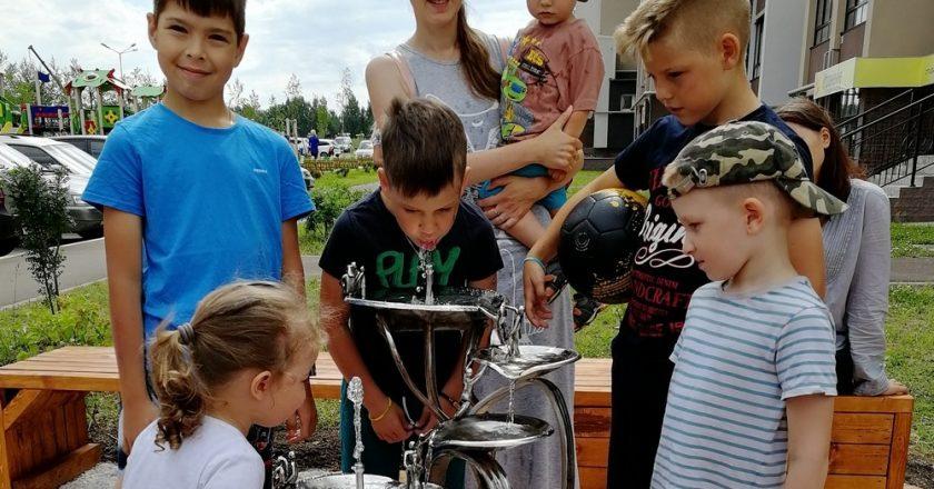 ККС открыли питьевой фонтана Семья