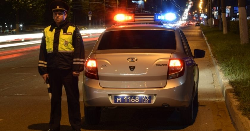 В Кирове в выходные задержали 22 пьяных водителя