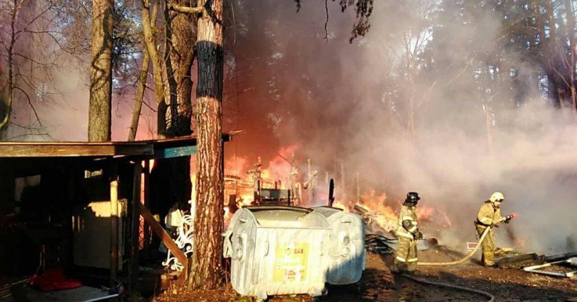 Сегодня в Кирове случился пожар на территории «Заповедника сказок»