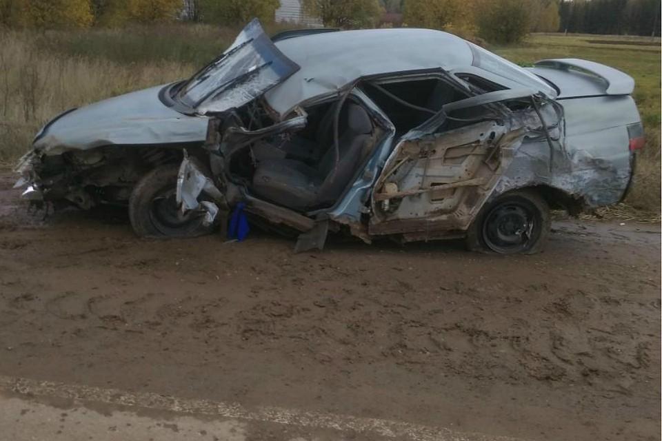 Трое мужчин пострадали в столкновении «Лады» и «Газели» в Кировской области