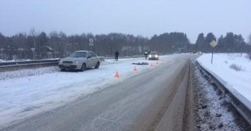 В Кировской области «Лада» переехала лежащего мужчину, пешеход погиб